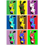 Постер pop-art rabbits