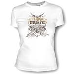 "Женская футболка Techno Music. Для поклонниц стиля ""техно""."
